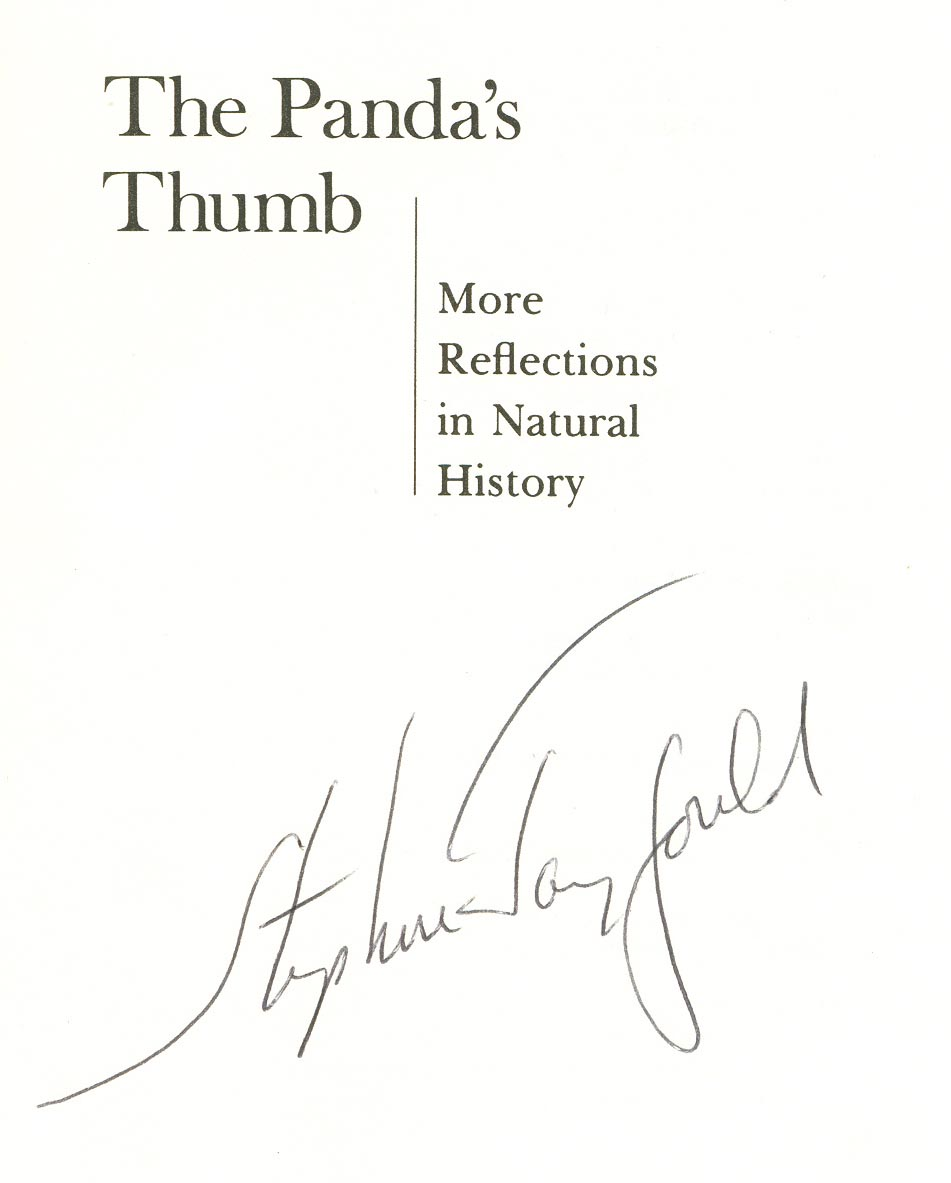 an analysis of the pandas thumb more reflections in natural history The panda's thumb: more reflections in natural history (1980) is a collection of 31 essays by the harvard university paleontologist stephen jay gould it is the second volume culled from his 27-year monthly column this view of life in natural history magazine recurring themes of the essays are.